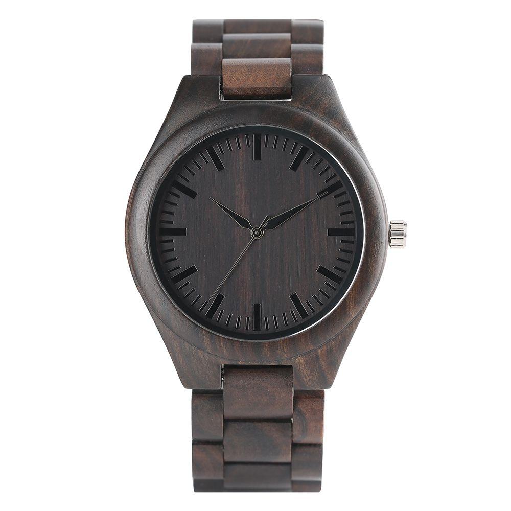Творческий деревянные часы ручной работы Bamboo Для женщин Для мужчин аналоговые кварцевые деревянные наручные часы Reloj де Мадера