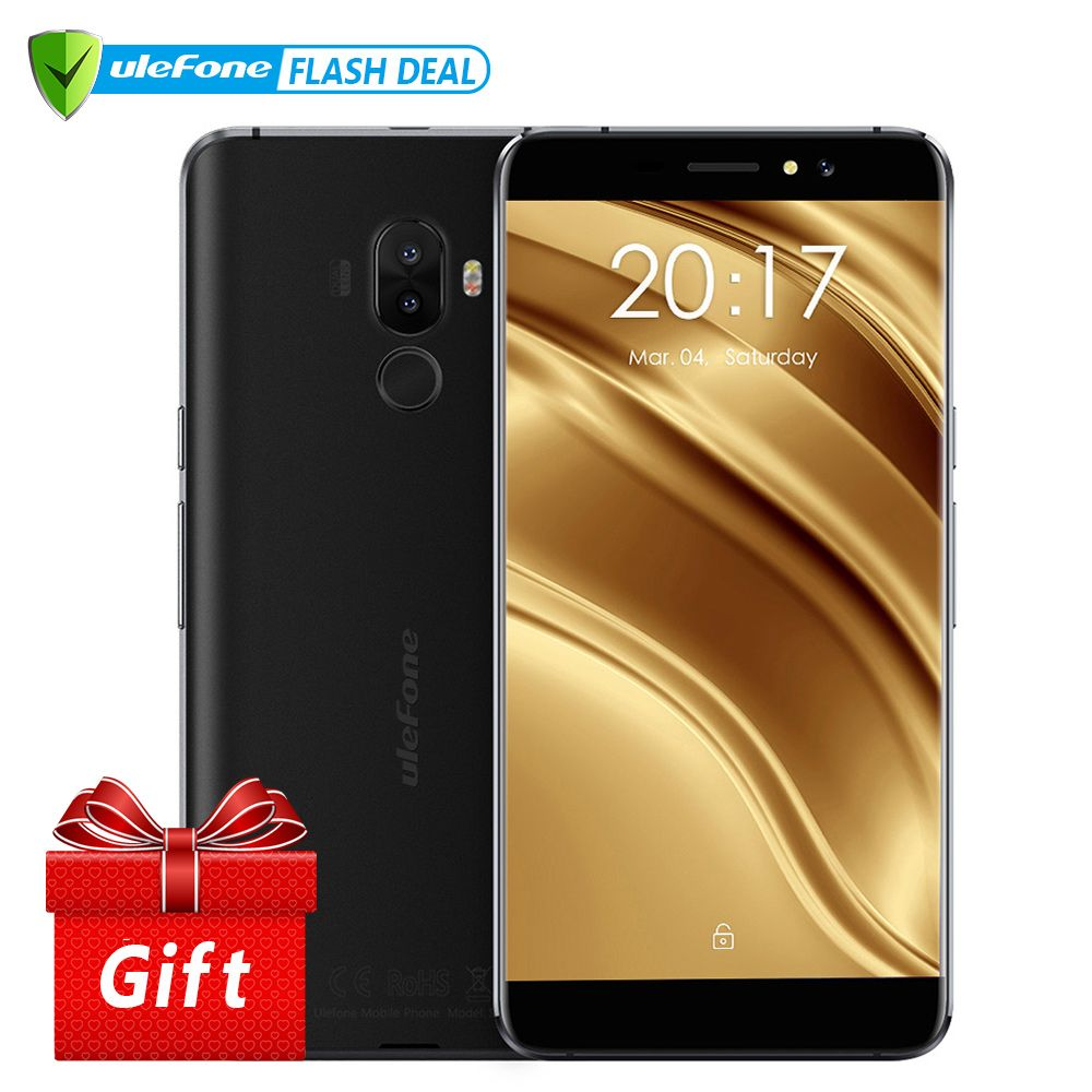 Ulefone S8 Pro Mobile Phone 5.3 <font><b>inch</b></font> HD MTK6737 Quad Core Android 7.0 2GB+16GB Fingerprint 4G Smartphone