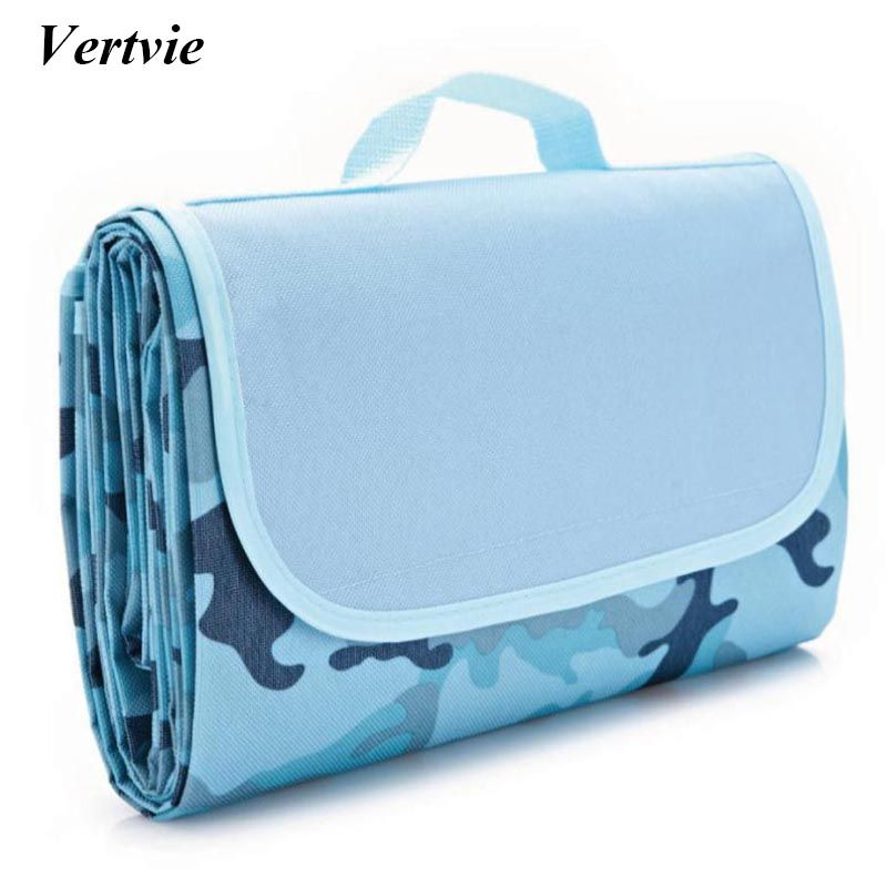 Vertvie 145x180cm Waterproof Foldable Outdoor Camping Mat Widen Picnic Mat Plaid Beach Blanket Baby Multiplayer <font><b>Tourist</b></font> Mat