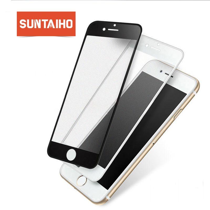 Suntaiho 3D Frosted Anti-blau licht Für iPhone 8 X Gehärtetem Glas Voll Curved Screen Protector Film Für iPhone 7 Plus Glas Film