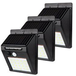 20/48/80 LEDs LED Solar Power PIR Motion Sensor Wall Light Outdoor Waterproof Energy Saving Street Garden Security Lamp