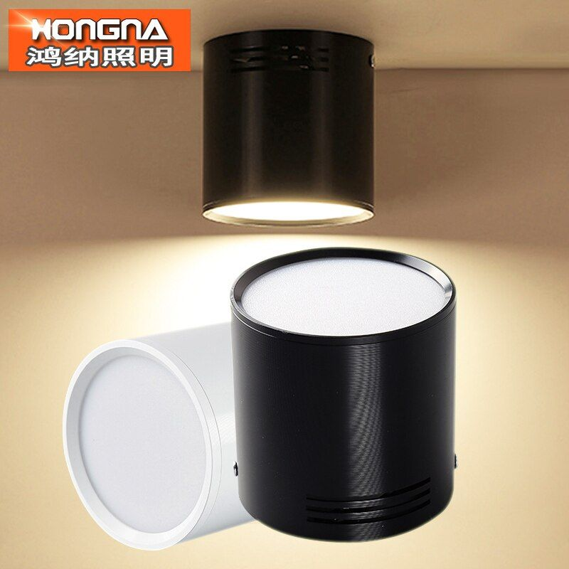 7W/9W/12W/18W Surface Mounted LED Downlights AC110V-220V LED Downlight With White/Black/Silver Housing Colors
