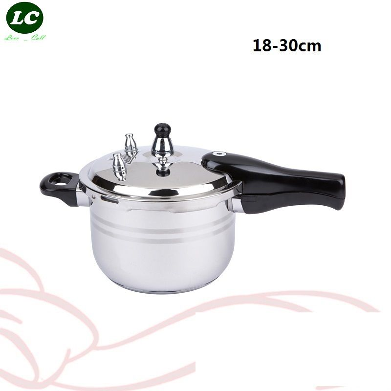 FREE SHIPPING Stainless steel pressure cooker 16-30 cm COOKING PAN stew pot induction cooker pressure cooker stove-top