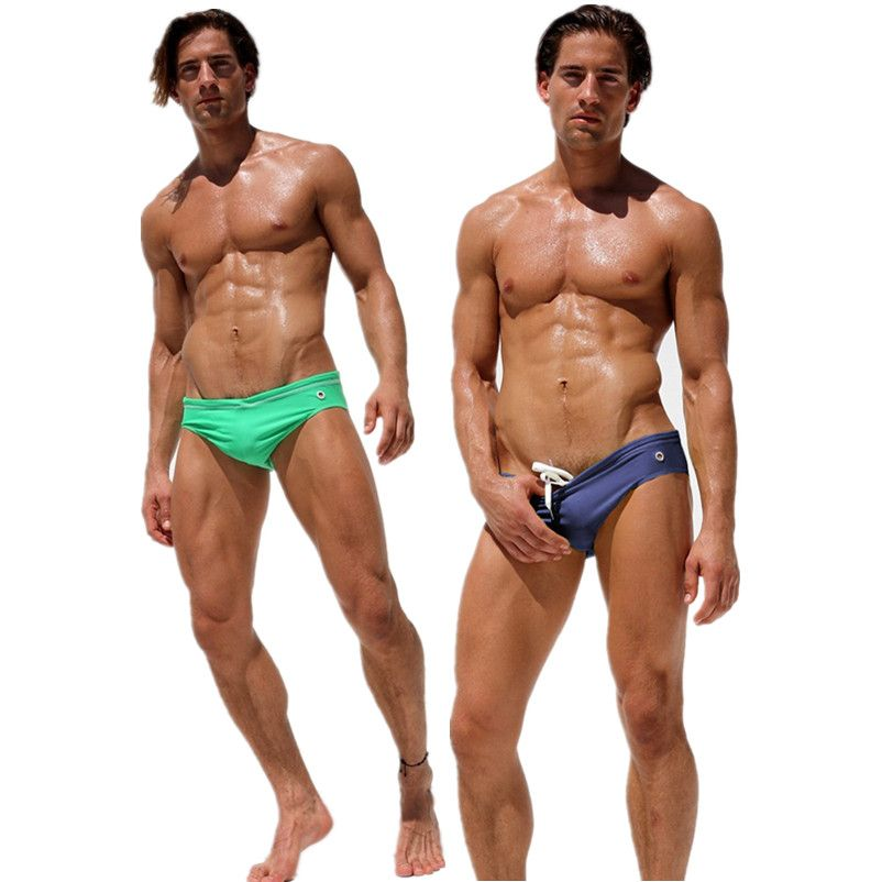 2018 men swimwear gay men's swimming trunks briefs underwear mens bikini swimwear shorts sungas de praia homens