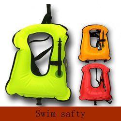 Gratis ukuran Dewasa Tiup Jaket Pelampung Snorkling Buoyancy Kolam Pelampung Mengambang