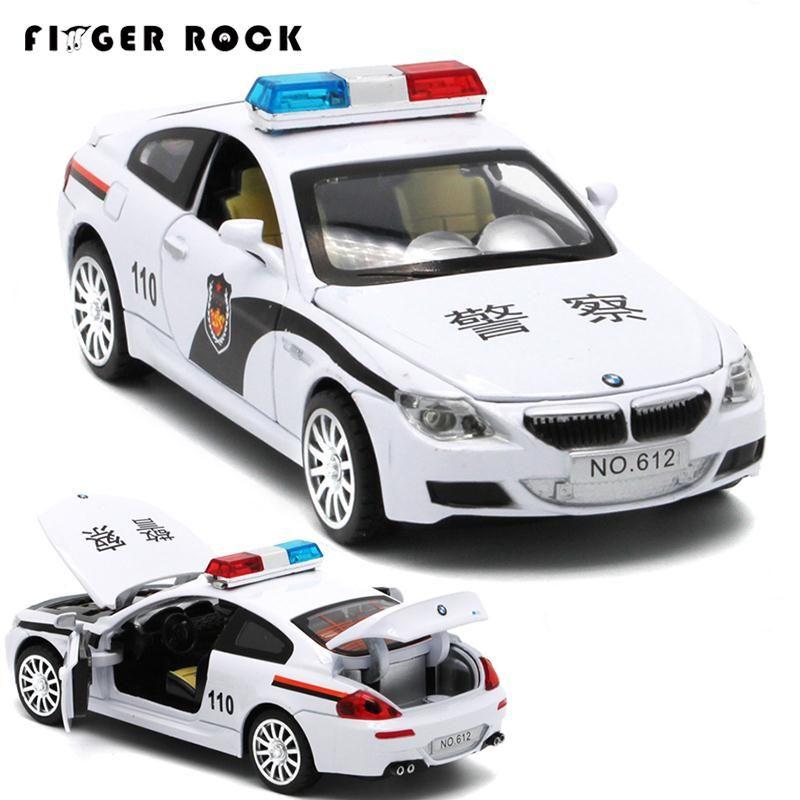 Серии m литья под давлением Металл Модель автомобиля 1:32 Полицейская машина со звуком и светом мини отступить сплава автомобили мальчик моде...