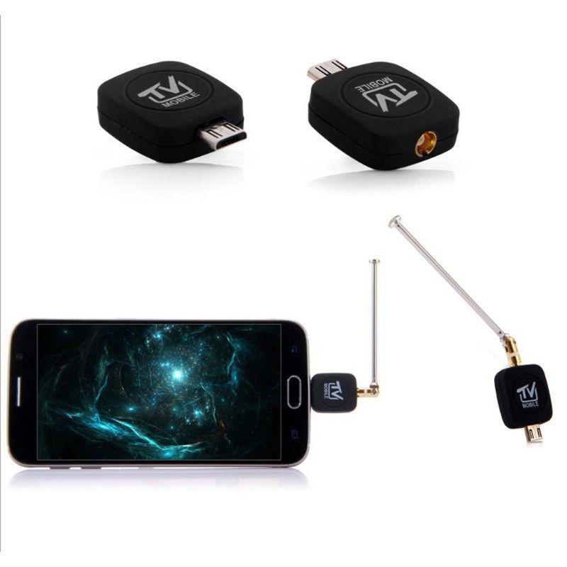 Micro USB dvb-t тюнер ТВ приемник dongle/Телевизионные антенны dvb t hd цифровой мобильный ТВ HD ТВ спутниковый ресивер для android телефон dvbt K5