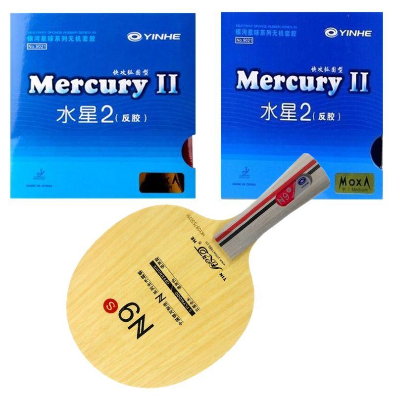 Yinhe N9s Mecury 2 yinhe Mercury 2 tischtennis gummi mit schwamm 9021 qualität fertigen schläger Lange Shakehand FL