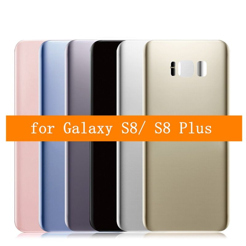 for Samsung Galaxy S8 Plus Glass Battery Back Cover for Galaxy S8 G950F S8 Plus G955F Rear Door Housing Cover Repair Parts