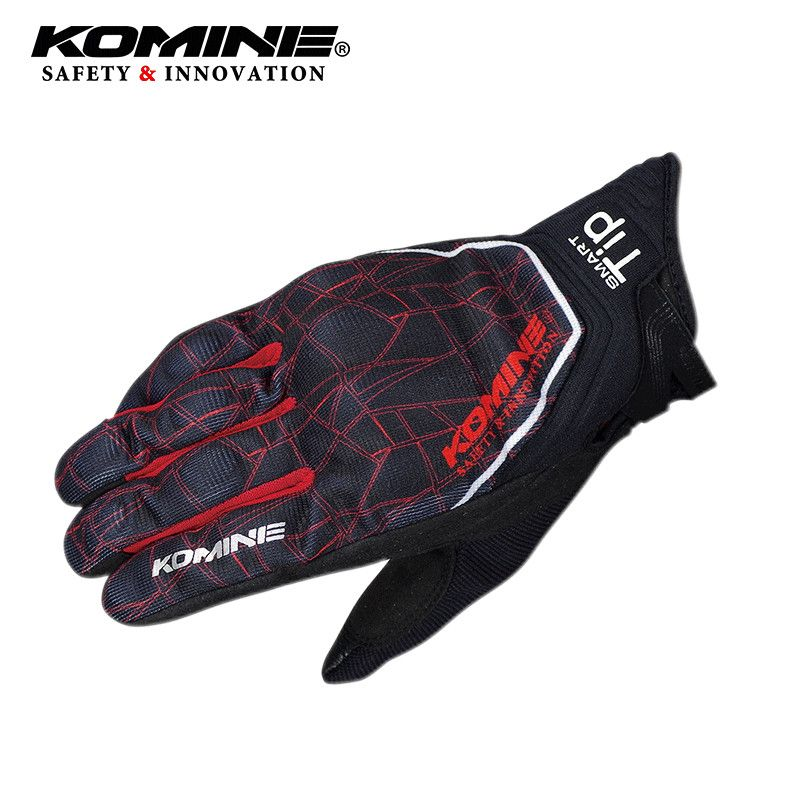 Spider pattern 3D Motorcycle Gloves CE Protect Air Mesh Sport Racing Cycling Gloves Touch Screen Guantes for KOMINE GK-191