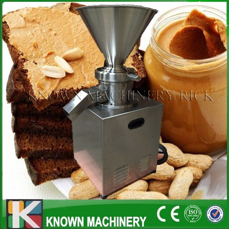 2017 the best selling 4000W colloid mill /homogenizer/crusher vertical type peanut butter with stainless steel