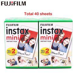 Fuji Fujifilm Instax Mini 8 Film Blanc 2 Packs 40 Sheets Film For 7s 8 9 90 25 55  Share SP-1 Instant Camera
