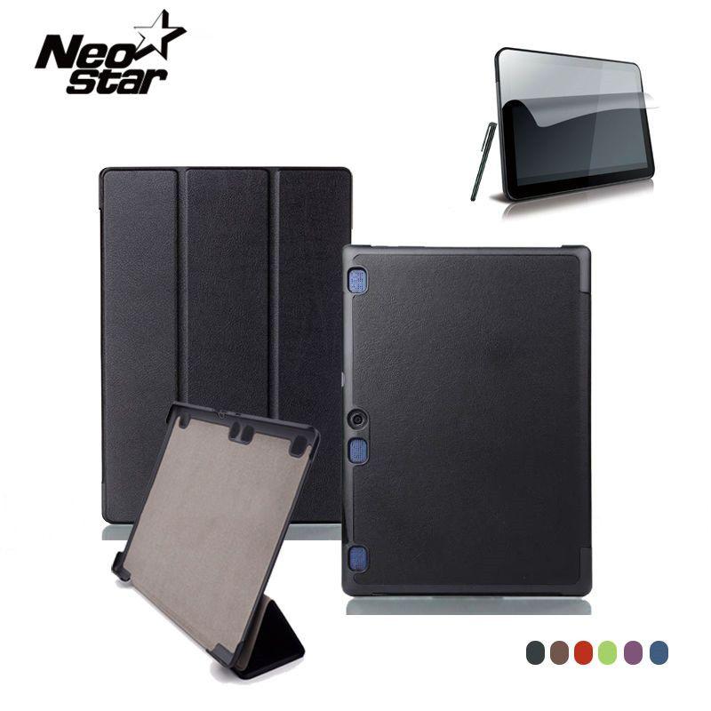 Pour Lenovo Tab 2 A10 70F Étui En Cuir Couverture Pour Tab2 A10-70 70 A10-70F A10-70L A10-30 X30F Tablet 10.1 ''Écran Protecteur + stylo