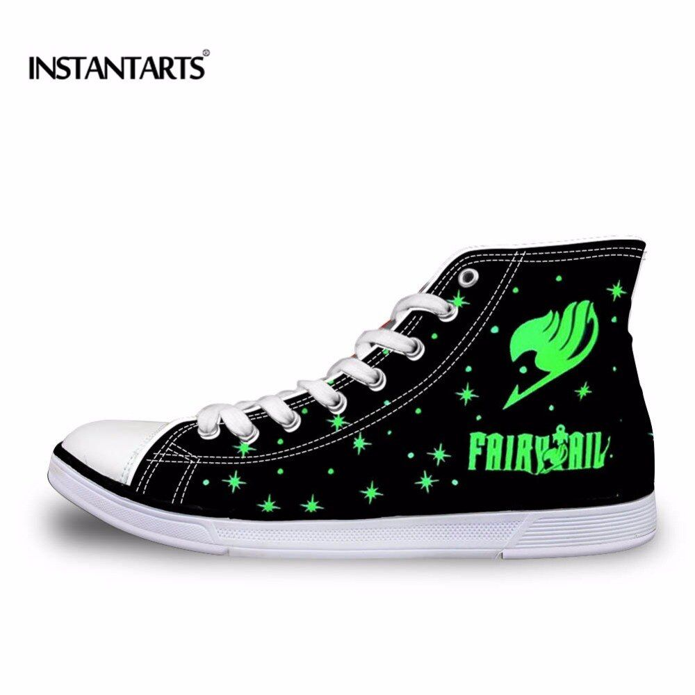 INSTANTARTS Classic Men Women High Top Vulcanize Shoes Fashion Anime Attack on Titan / Fairy Tail / Death Note Print Canvas Shoe