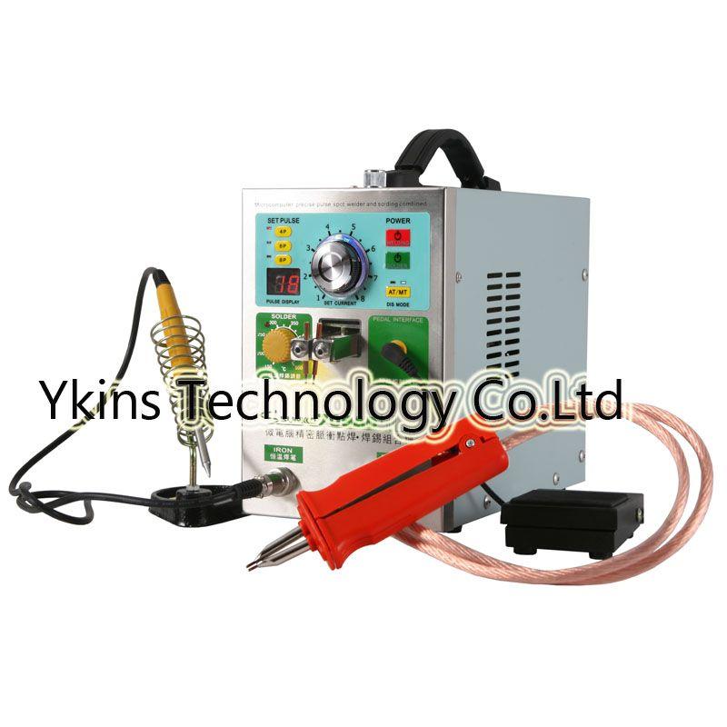 709AD + LCD display 18650 batterie spot schweißer maschine 4 IN 1 Schweißen maschine feste puls schweißen konstante temperatur solderin