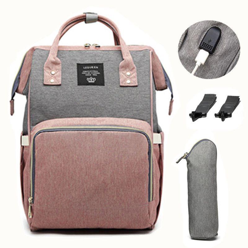 LEQUEEN USB sac à couches bébé soin sac à dos pour maman momie maternité humide sac étanche bébé enceinte sac