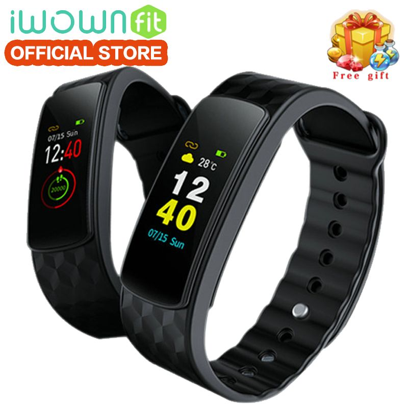 IWOWNfit I6 HR C Fitness Bracelet Color Screen Smart Band with Heart Rate Monitor Smart Wristband Sleep Fitness Tracker Sport.