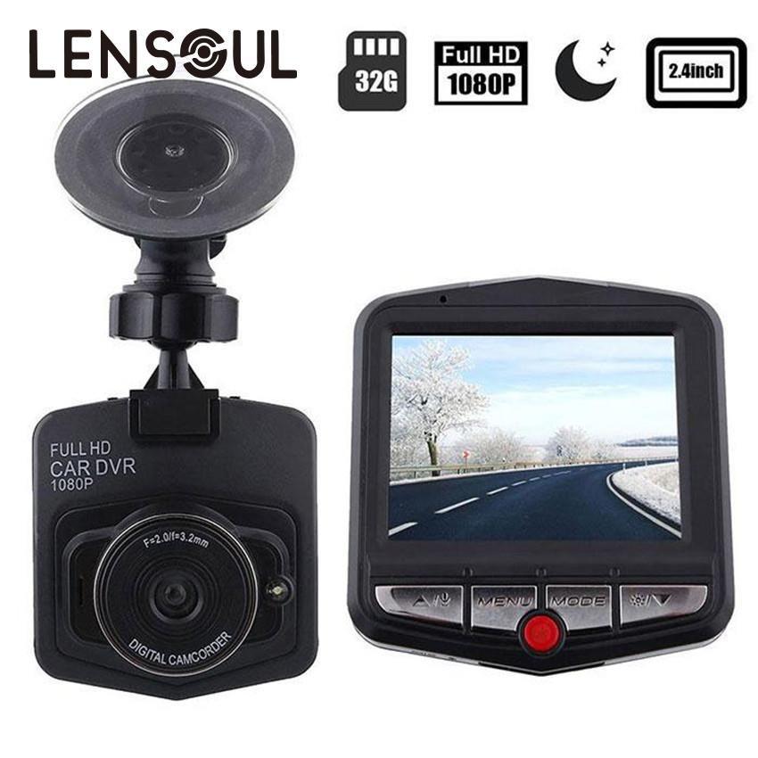 lensoul HD 480P View Angle Video Camera 2.4 LCD Car DVR <font><b>Dashcam</b></font> G-Sensor IR Night Vision Mini Cam Camcorder