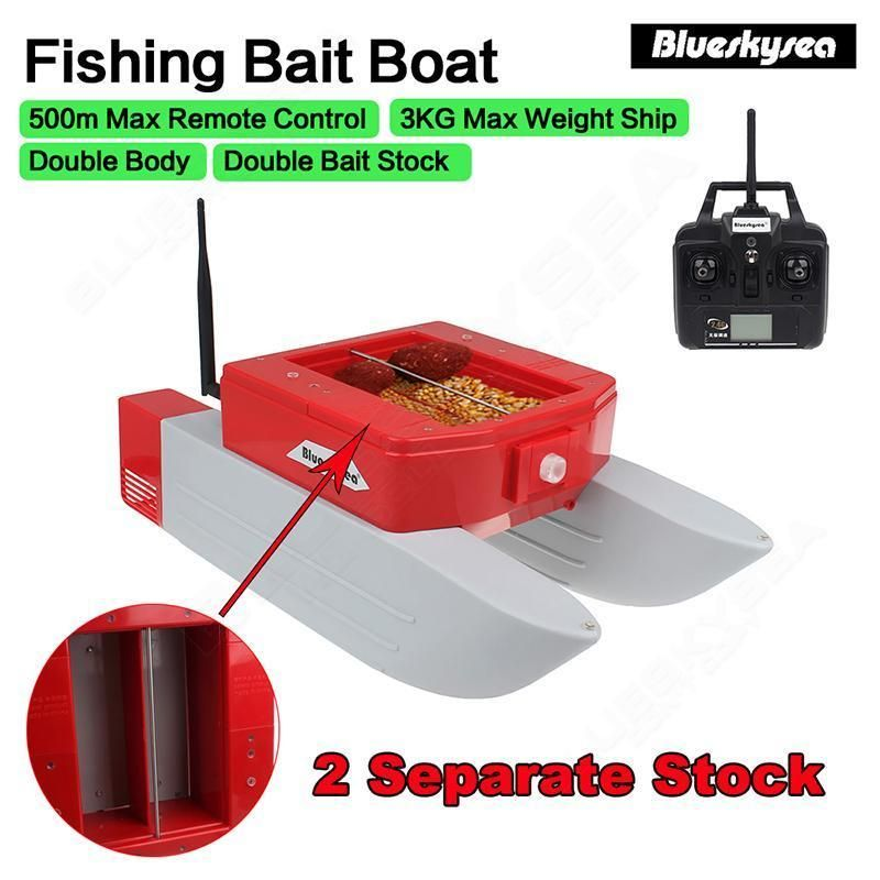 500M Remote Control RC Boat T168 RC Fishing Bait Lure Carp Boat Watercraft 3kg Double Stock Bearing For Fish Finder