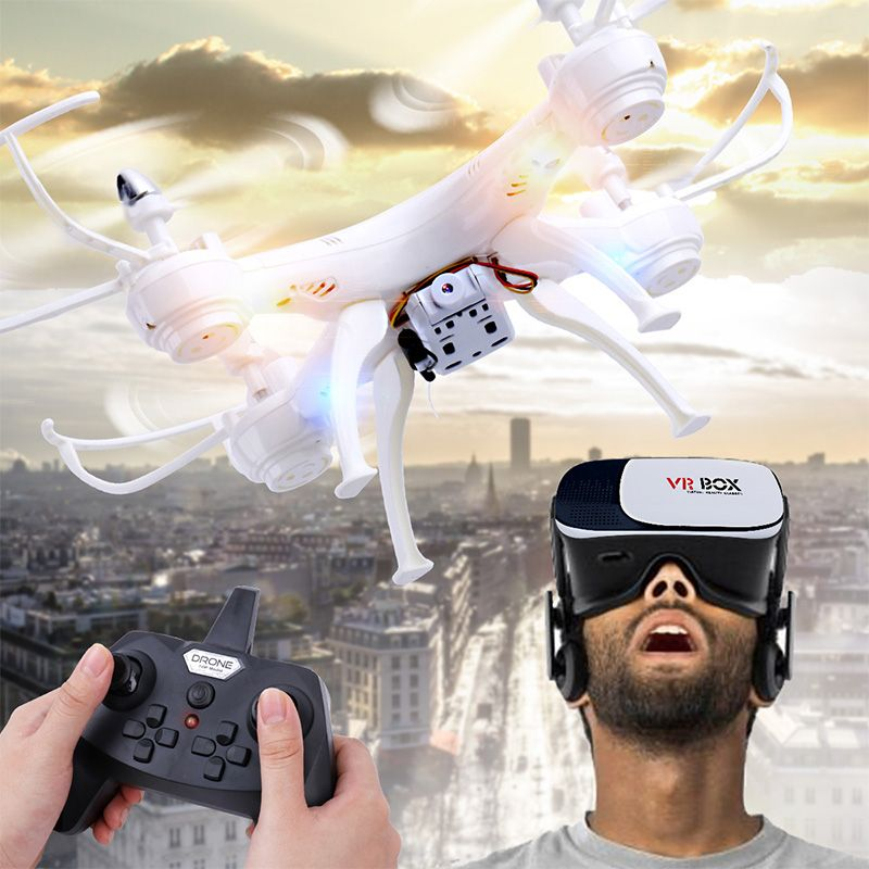 RC Quadcopter Drone with Camera with VR Glass FPV Drones WiFi Phone Control Live Video Photo RC Helicopter UAV Dwi Dowellin D4