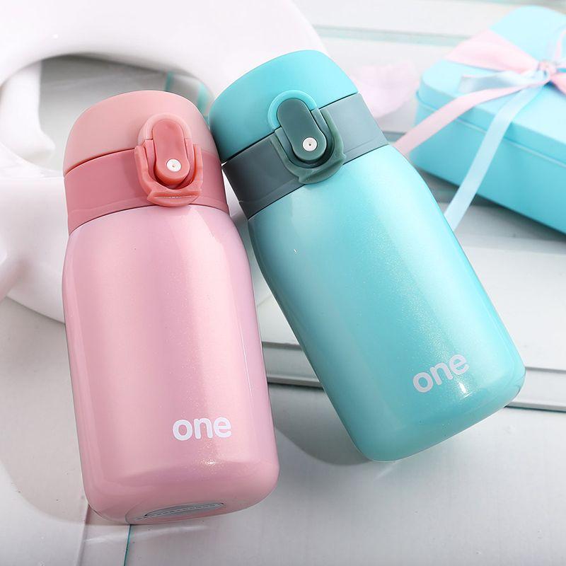 Bouteille thermique d'alimentation en acier inoxydable pour filles thermos de voyage tasse thermique pour bébé Mini tasse d'alimentation sous vide de lait isolée