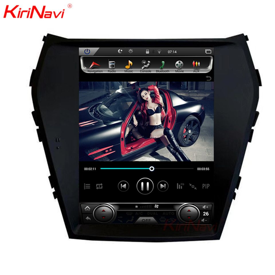 KiriNavi Vertikale Bildschirm Tesla Stil 10,4 Inch Adroid Auto Radio Für Hyundai IX45 Santa Fe Navigation DVD Player GPS 2013 +