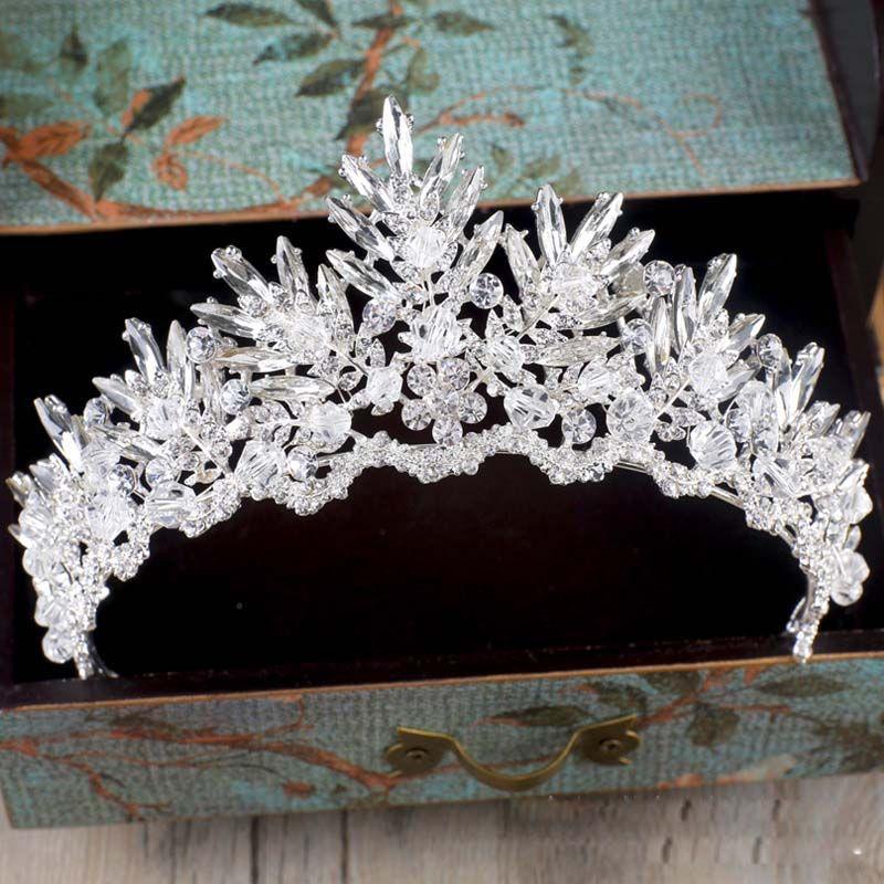 Baroque luxe strass cristal perlé mariage diadème mariée couronne mariage cheveux accessoires