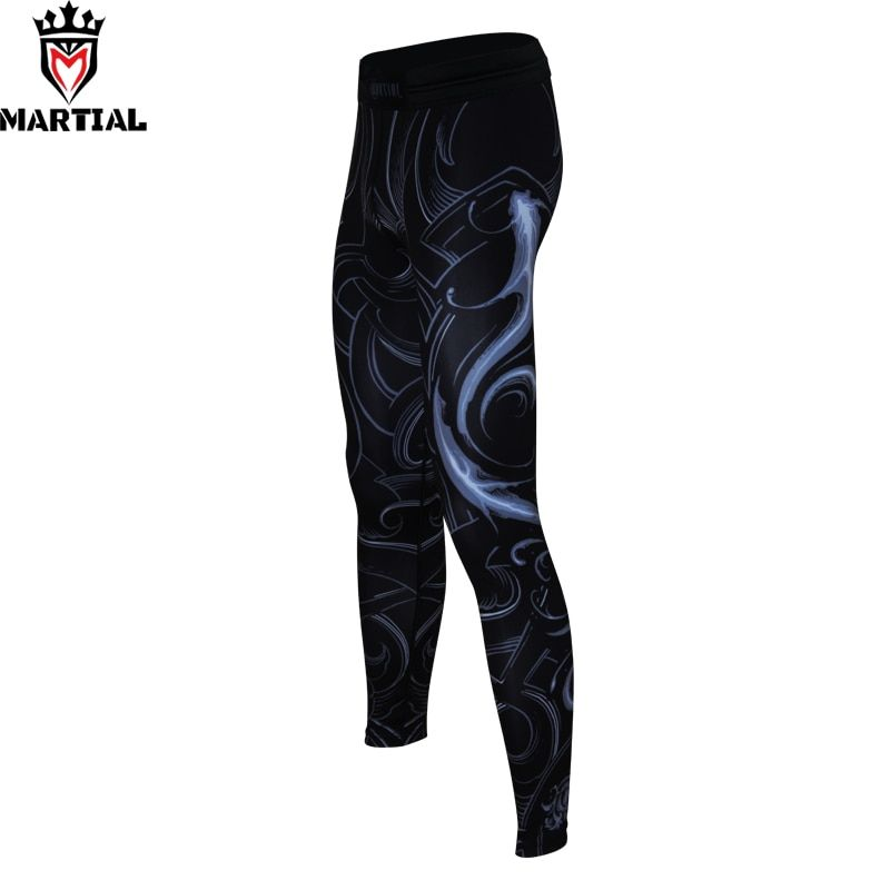Martial: Pisces original design pants men mma running leggings compression tights gym wear elastic leggings