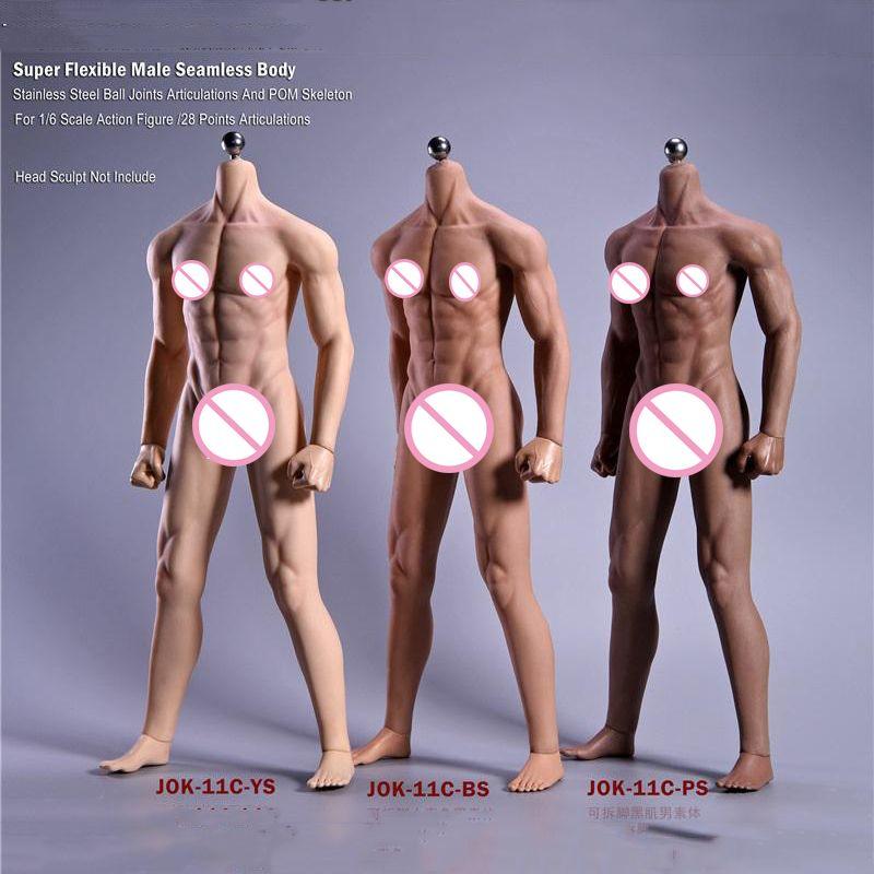 1/6 skala 12''Ultra Flexible Muskel Männlichen Nahtlose Körper Stainlee Stahl Skeleton Menschliches-wie Haut Körper für 1/6 Kopf