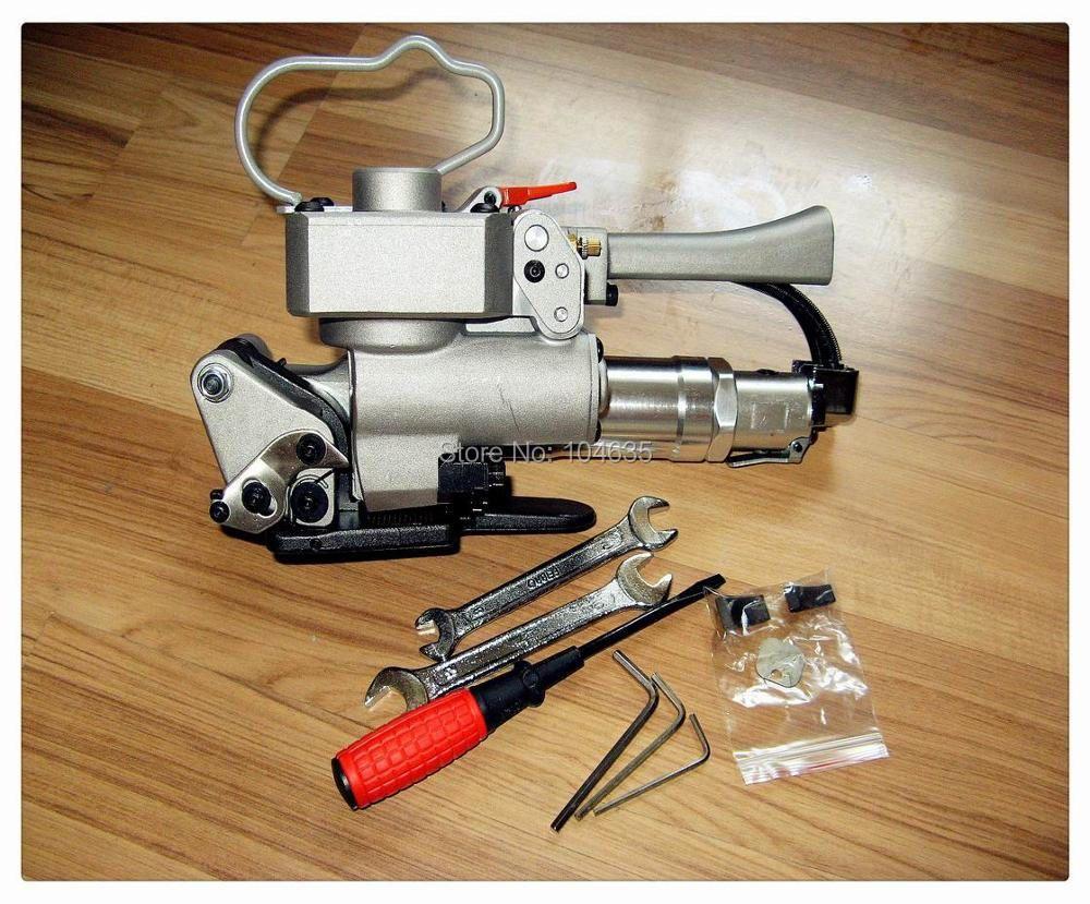 Freies verschiffen! XQD-19 Pneumatische Dichtungslose Kunststoffband-werkzeug für 13-19 MM PP PET Strapping, Banding Handwerkzeug Reibschweißen