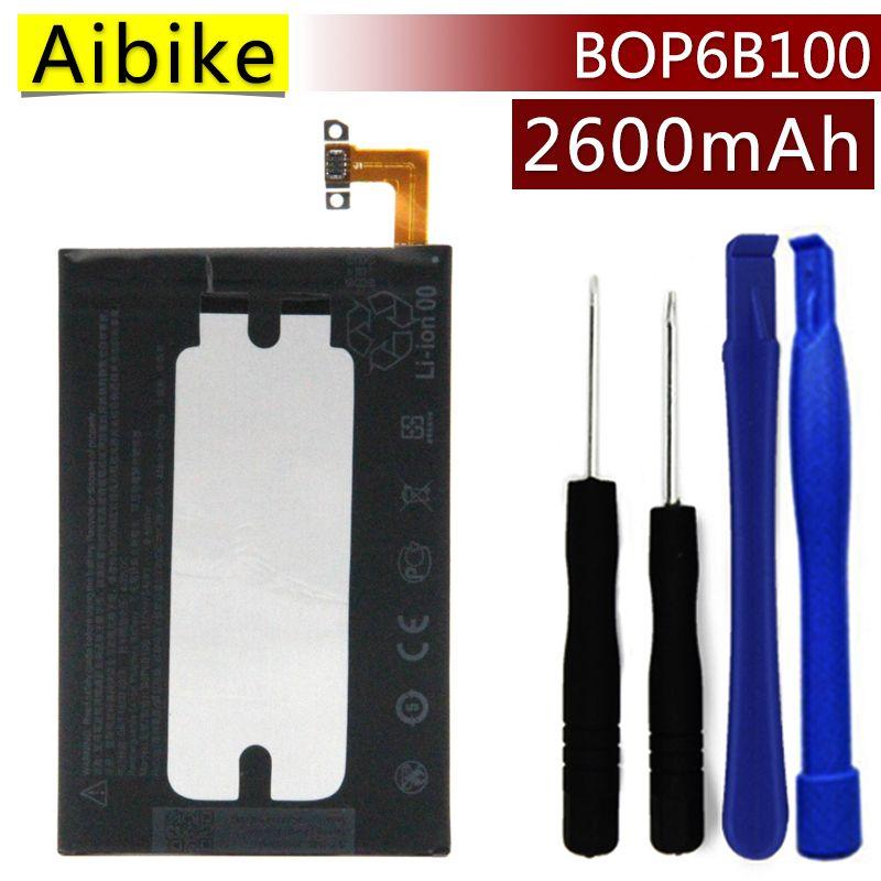BOP6B100 Aibike Nueva batería original del teléfono móvil Para HTC UNO M8 uno 2 M8T M8X M8D E8 M8SW M8ST M8SD Batería 2600 mAh Real