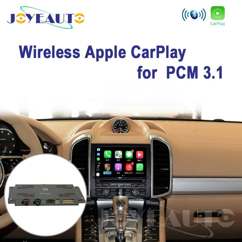 Joyeauto WIFI PCM3.1 Drahtlose Apple CarPlay für Porsche Cayenne Macan Cayman Panamera Boxster 911 Android/iOS Mirroring/Auto