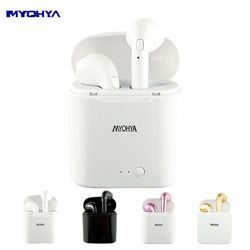 MYOHYA TWS Mini Bluetooth Wireless Earbuds Earphone Headsets Double Earpiece mini with Microphone For Earpods All Mobile Phones