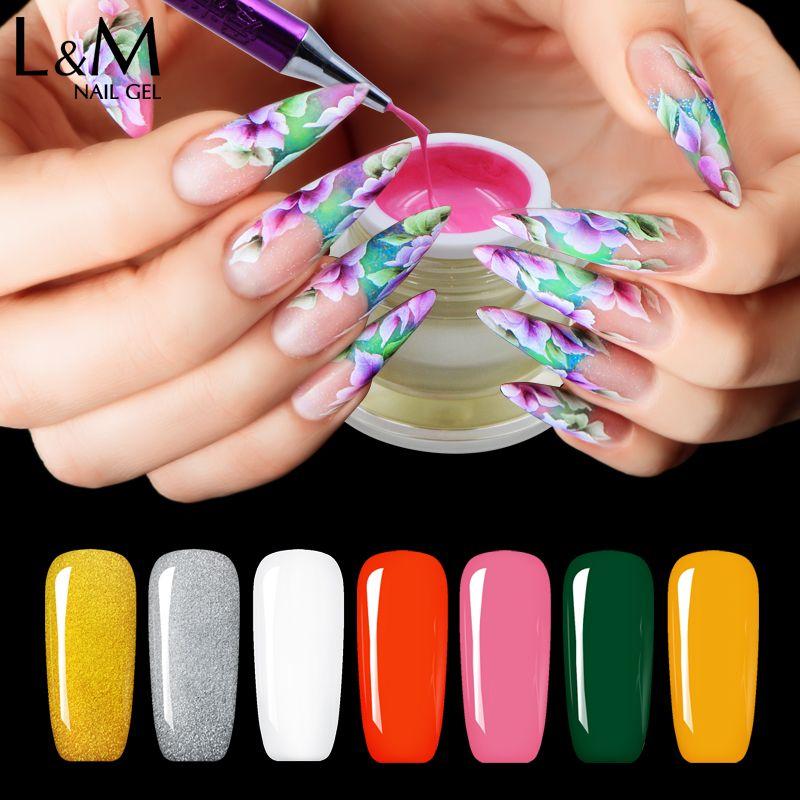 Pintura de Uñas de Gel Lvmay color Sork fuera Del Arte Del Clavo de DIY del Polaco del Gel de Larga duración UV