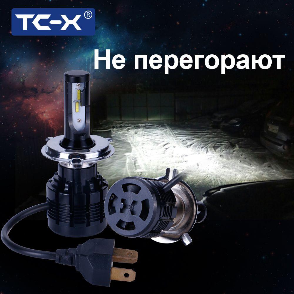 TC-X 2 Pieces H7 Led Bulb 7200Lm Headlights H1 H8/H11 HB3/<font><b>9005</b></font> HB4/9006 H4 H27/ 880 Fog Lamp Car Headlight White 12V Automobiles