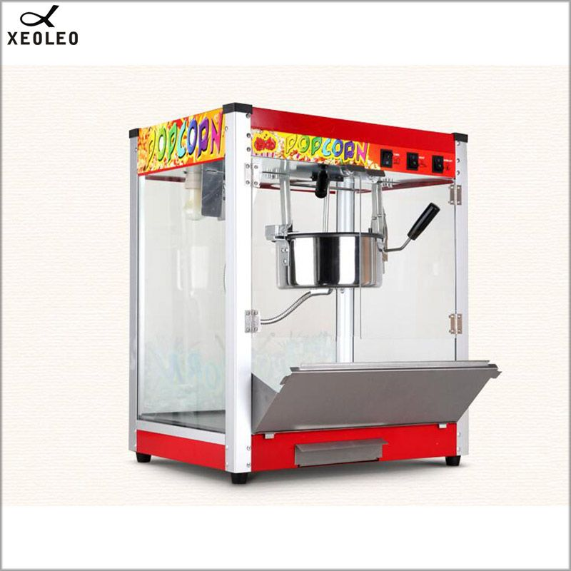 XEOLEO 8OZ Popcorn maker Commercial Electric Spherical Popcorn machine 1360W 110V/220V CE Oil Popped Toughened glass