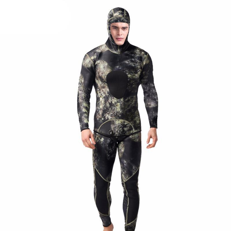 SEAC 5mm Men's Diving Suits Winter Keep Warm Wetsuits Long Sleeve Spearfishing Rash Guards Surfing Swimsuit 2 Pieces
