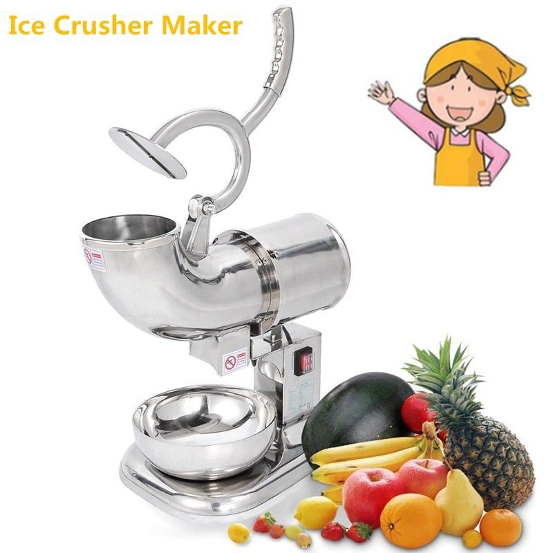 New Crushed Snowflake Shaved Ice Machine Hot Sell Ice Block Crusher Ice Grinder Stainless Steel Ice Crushing Machine