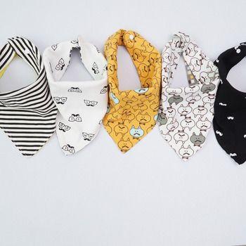 (1 PCS SEULEMENT) de Haute qualité coton bébé bavoirs Burp Chiffons De Mode Imprimé Animal bébé bandana bavoirs dribble bavoirs