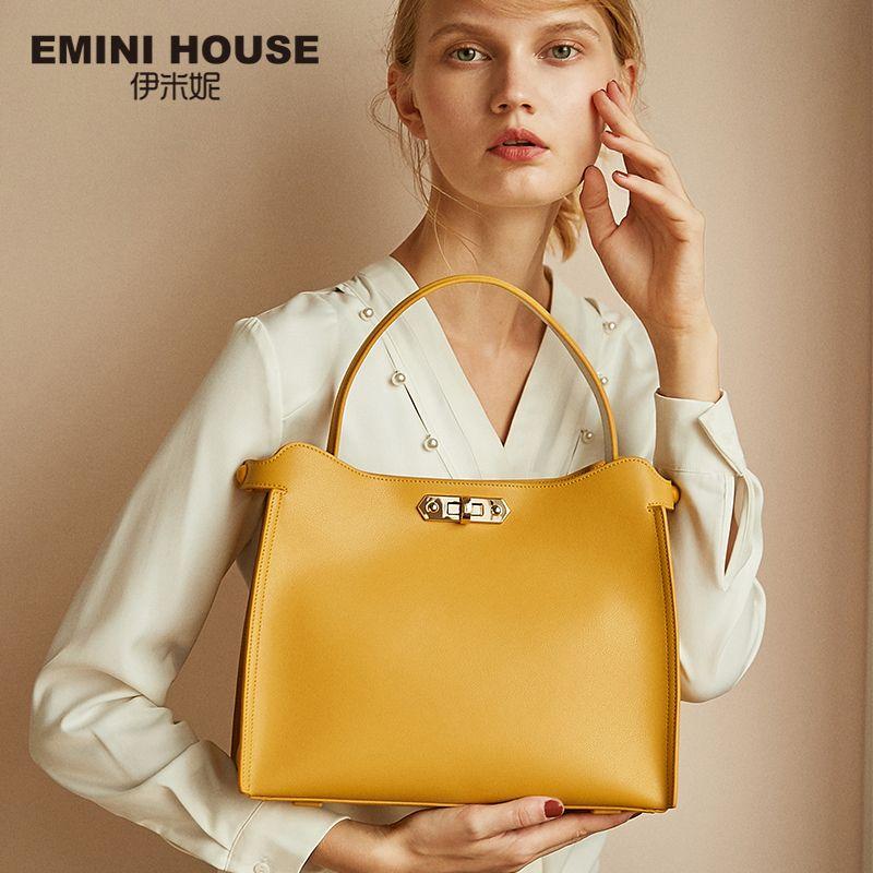 EMINI HAUS Split Leder Handtasche Casual Tote Luxus Handtaschen Frauen Taschen Designer Umhängetaschen Für Frauen Schulter Tasche