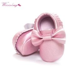 18 colors Tassels PU Leather Waterproof Baby Shoes Newborn Moccasin Soft Infants  Prewalker