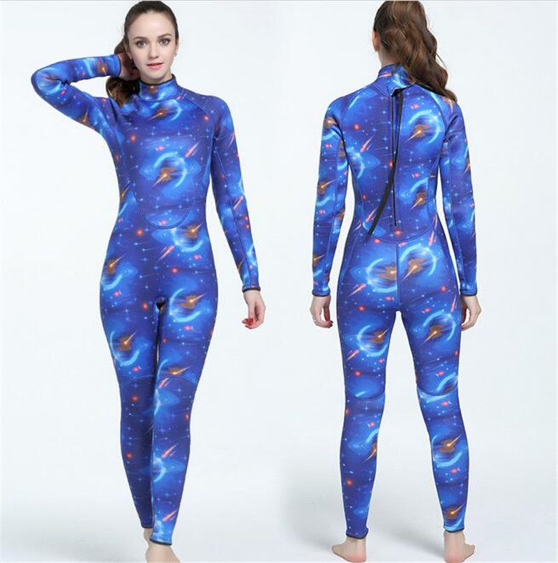 MYLEDI 3MM Neoprene Wetsuit Women Swimsuit Equipment For Diving Scuba Swimming Surfing Spearfishing One-piece Diving Suit