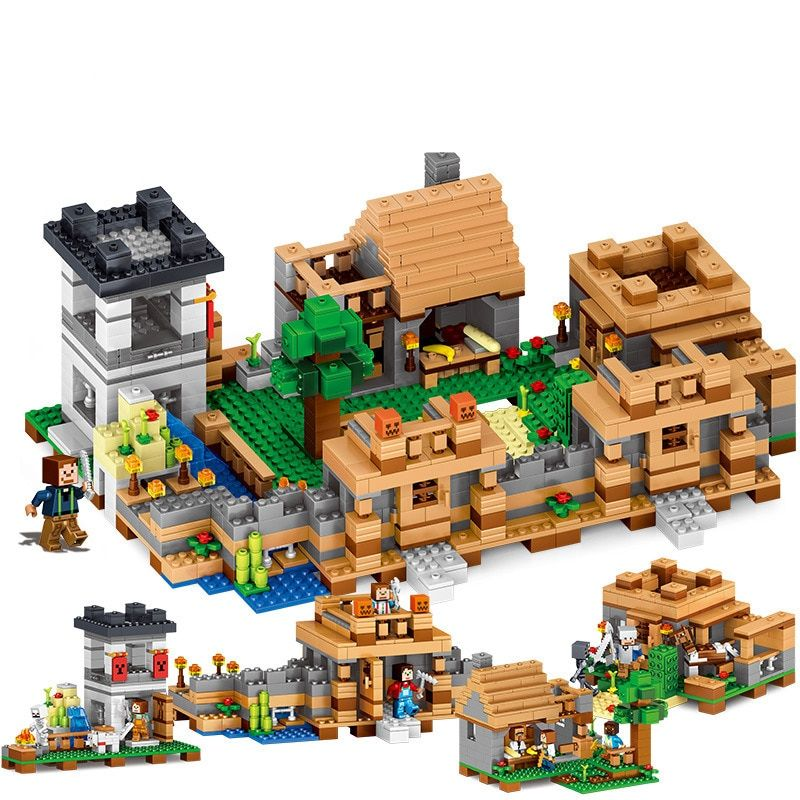2017 MY WORLD Figures DIY Building Blocks Bricks Set Educational Toys for Children Compatible With Legoing Minecrafted