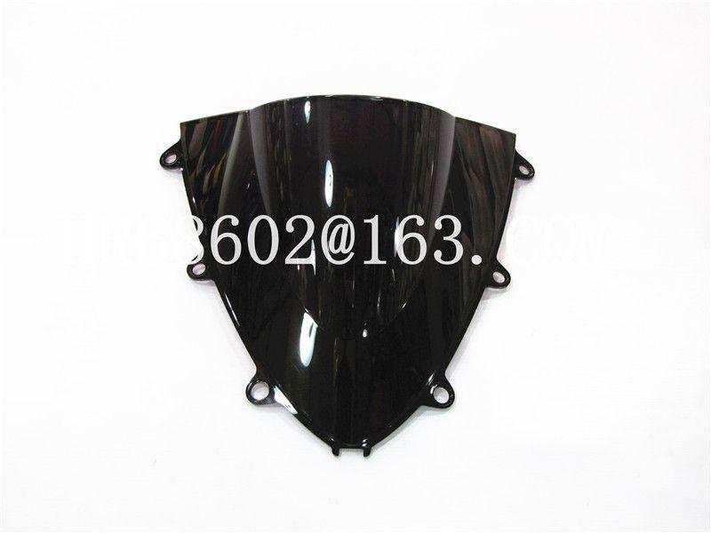 For Honda CBR 1000 RR 2008 2009 2010 2011 Black Windshield WindScreen Double Bubble cbr 1000 rr CBR1000 cbr1000 rr CBR1000RR