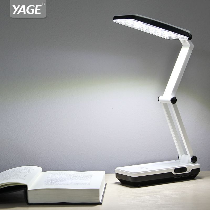YAGE 5913C led Desk Lamp Night Light LED Table Lamp reading books desk light usb Foldable 3-<font><b>layer</b></font> body flexible lampe led bureau