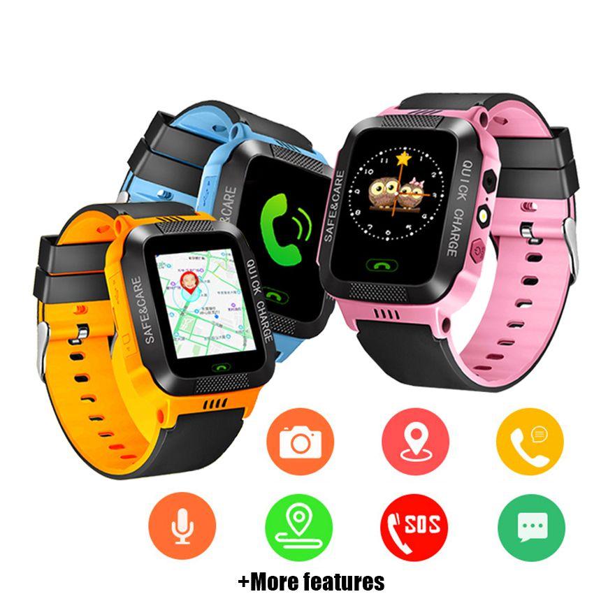 Montre intelligente enfants écran tactile caméra positionnement montres pour enfants SOS appel localisation Anti-perte rappel montre enfants horloge