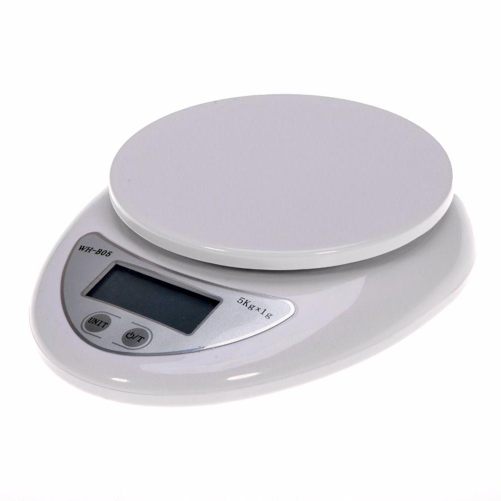 Portable 5 kg Numérique Échelle LCD balances électroniques Romaine balances de cuisine Aliments Postal Balance De Mesure Poids Balance