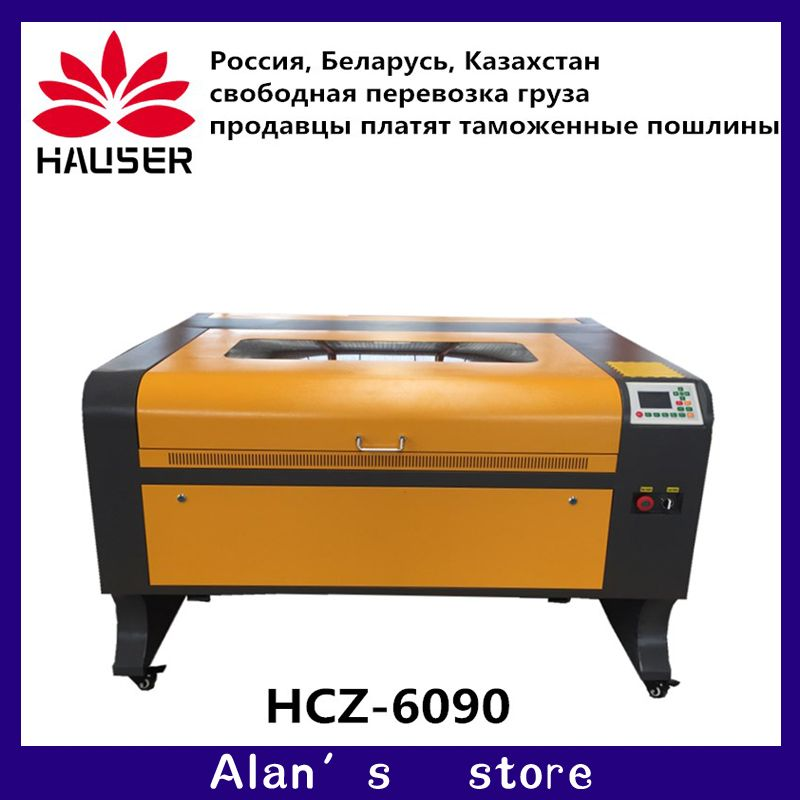 Free shipping 57 motor 6090 80w ruida Co2 laser engraving machine cnc laser engraver DIY laser marking machine carving machine