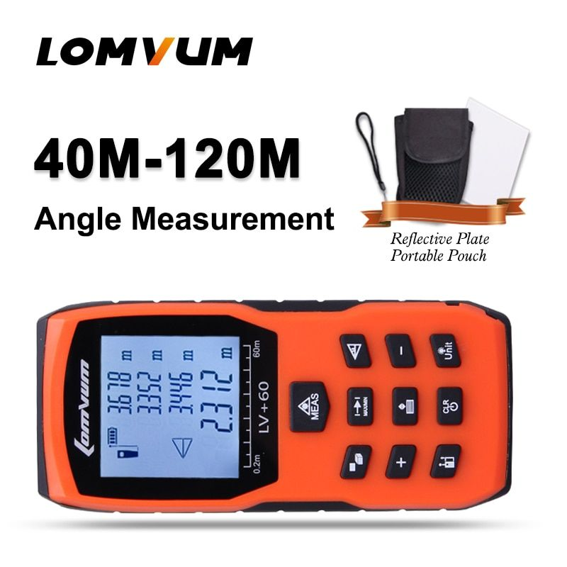 LOMVUM Measurer Range Finder Lazer Metreler Tape Medidor Laser Ruler Rangefinders 40/50/60/80/100/120M Digital Distance Meter