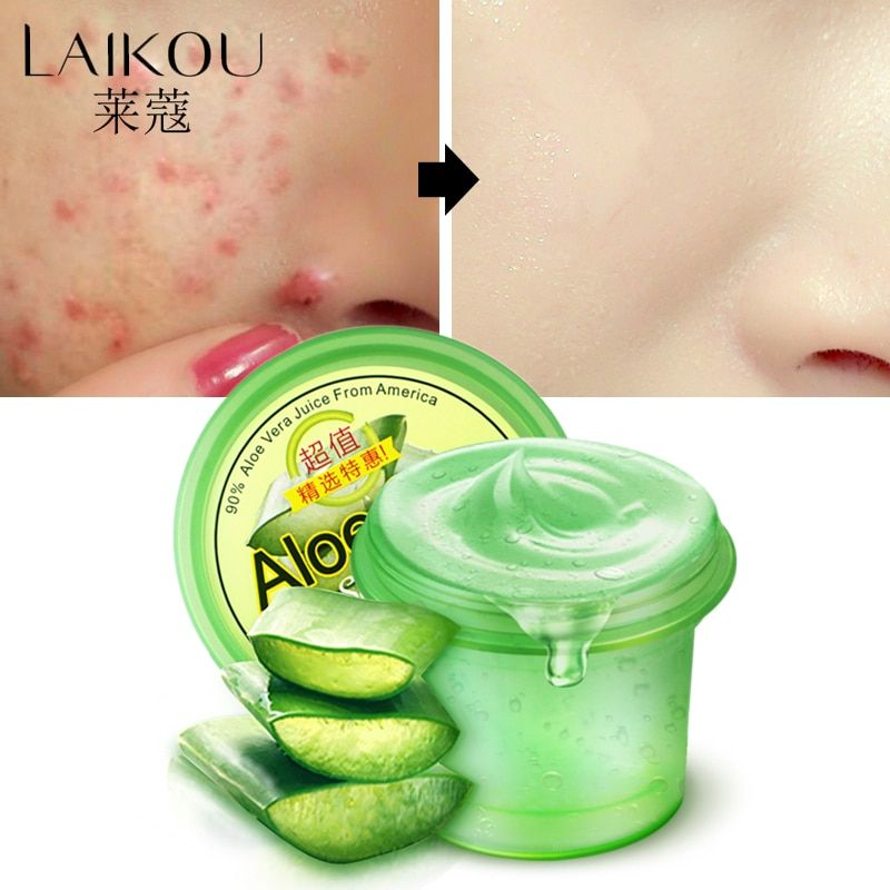 Day Creams & Moisturizers Pure Nature Soothing Aloe Vera Gel Wrinkle Removal  Anti Acne Anti-sensitive Sunscreen Cream LAIKOU